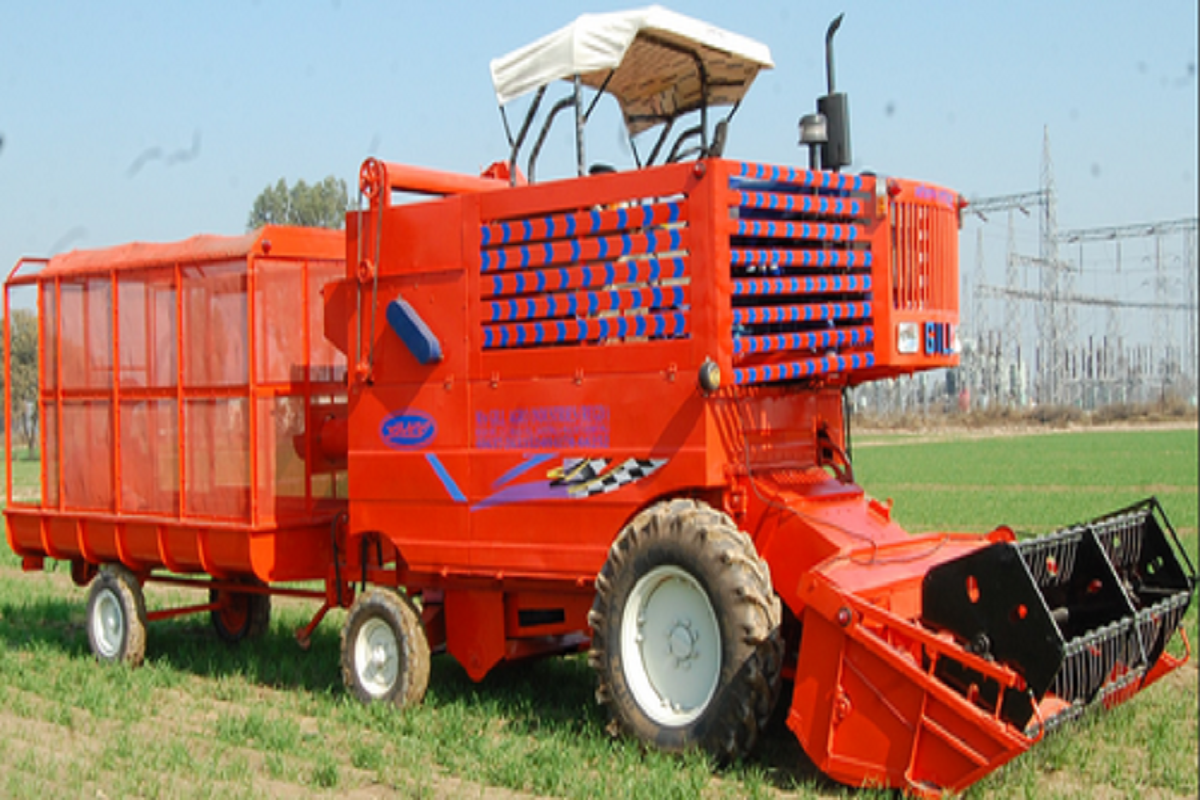Harvesting Machine with Tractor - Arrange to Offer Low Rent!