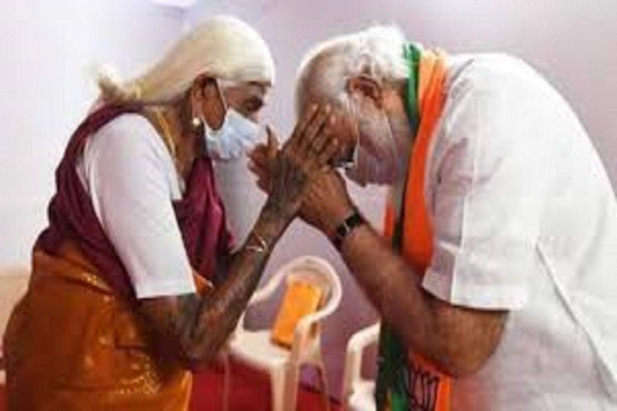 105-year-old nature farmer - Prime Minister Modi praised in person!