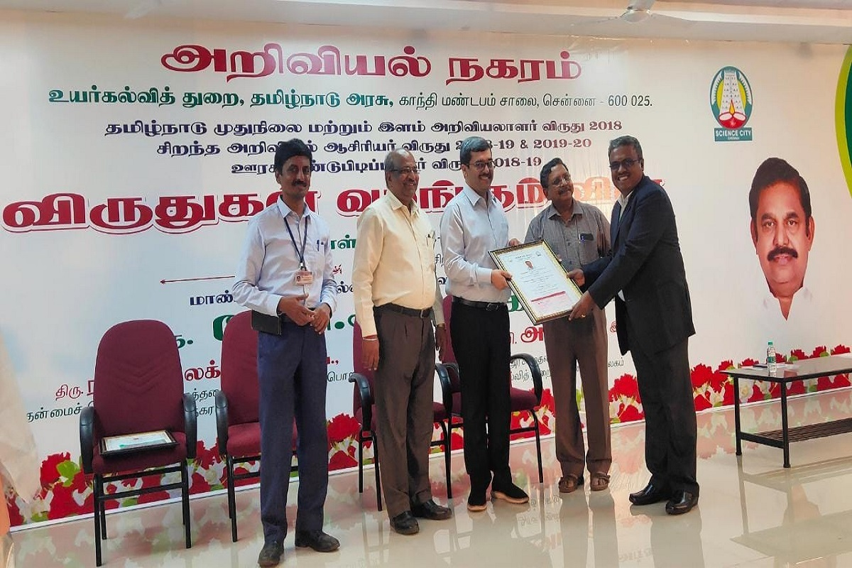 State Government Scientist Award for Tamil Nadu Agricultural University Scientists!