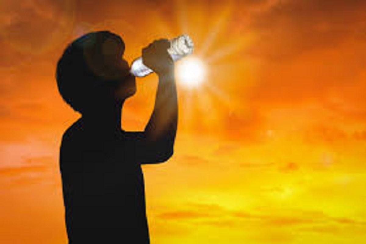 Sun burning during the day - risk of shortage of drinking water!