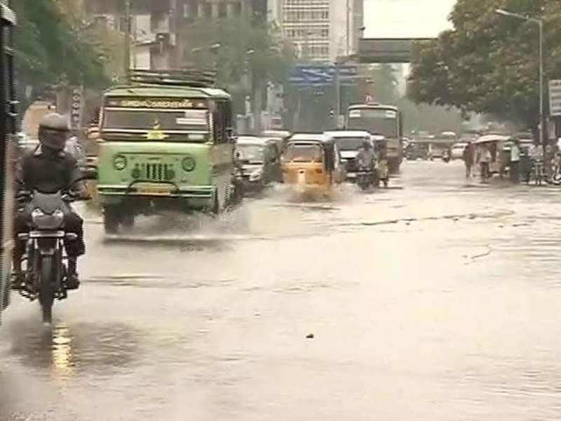 During Rain In Chennai