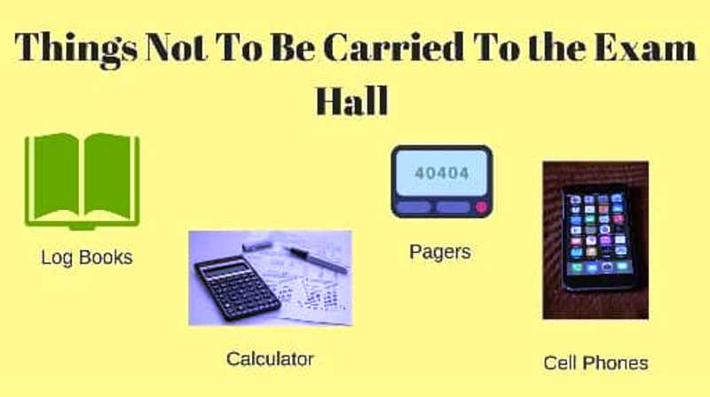 Banned items in the exam hall