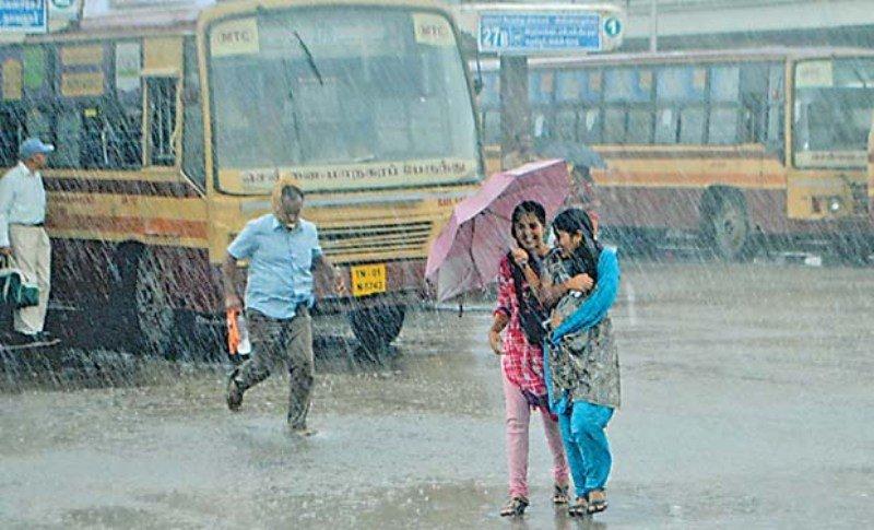 Chennai seems heavy rain