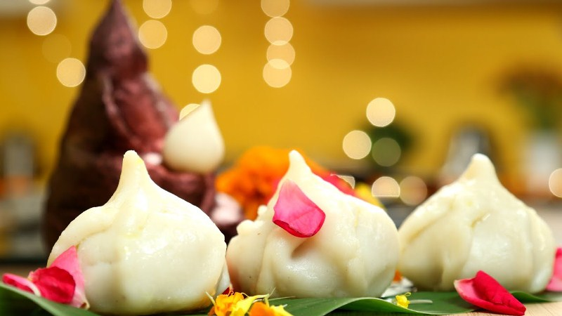 Delicious Steamed Modak