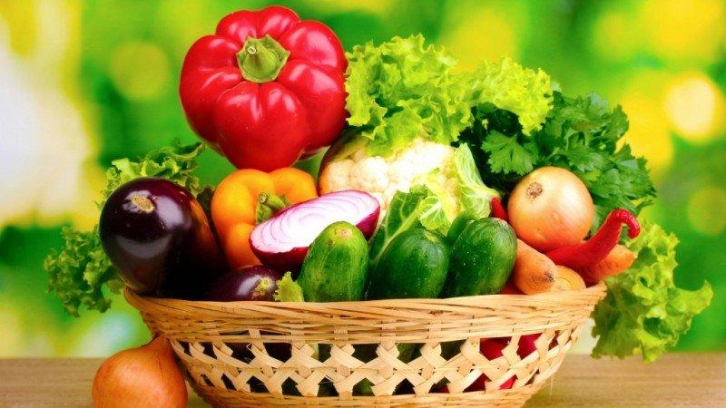 Basket vegetables