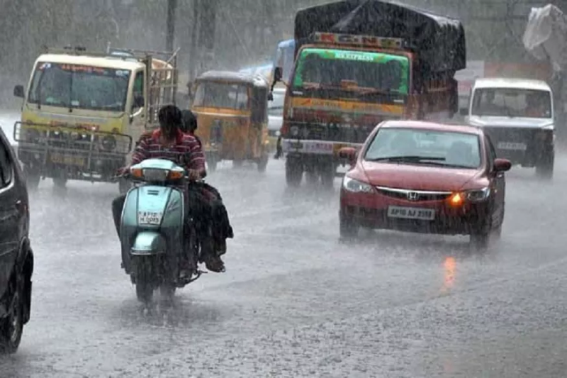 Rainfall of Next three days In 14 districts