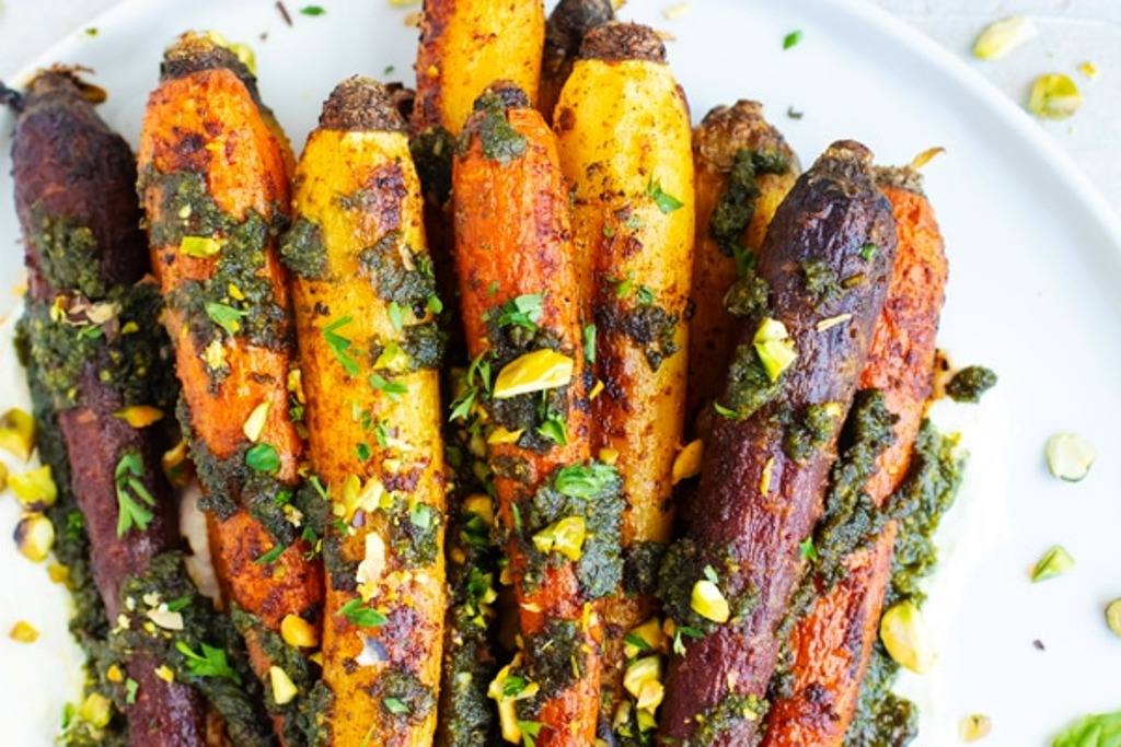 Delicious Roasted Rainbow Carrot