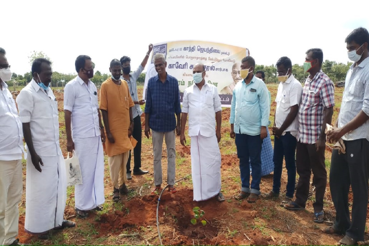 Planting of 1.16 lakh trees in Tamil Nadu - Cauvery charity movement to continue